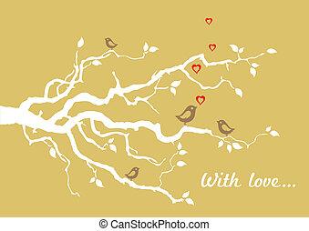 arany-, love', 'with, köszönés kártya