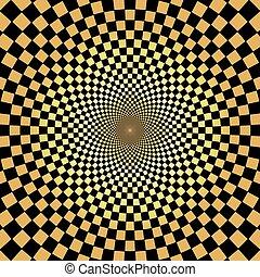 arany, motívum, elvont, háttér, radiális, geometriai