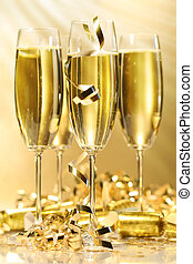 arany-, pezsgő pohár