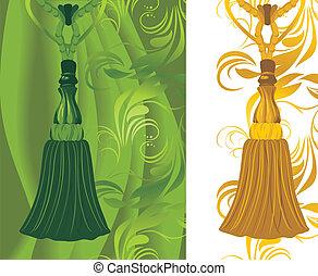 arany-, rojt, zöld