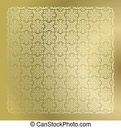 arany-, tapéta, seamless, damaszt