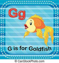 aranyhal, flashcard, levél g