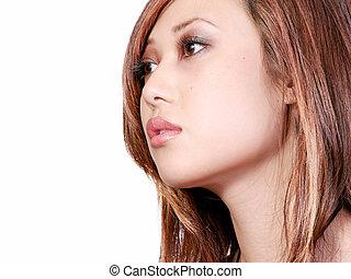 arcél, nő, ázsiai