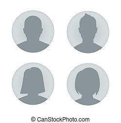 arcél, nő, felhasználó, ábra, ember