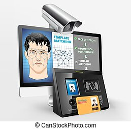 arc, -, rendszer, elismerés, biometric
