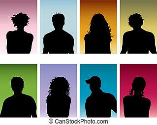 arcképek, emberek