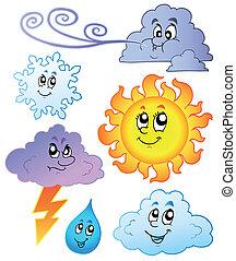arcmás, időjárás, karikatúra