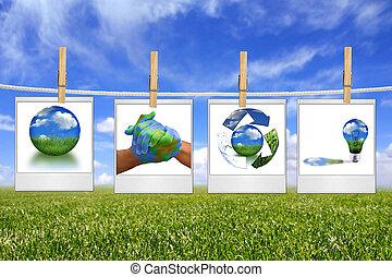 arcmás, odaköt, energia, zöld, oldás, függő