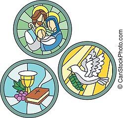 arcmás, pohár, foltos, keresztény