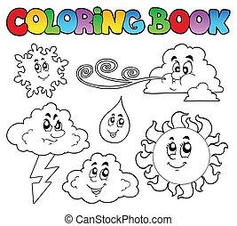 arcmás, színezés, időjárás, könyv
