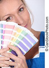 arcszín, szobafestő, színkép, kóstol, birtok