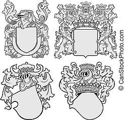 arisztokratikus, állhatatos, emblémák, no11