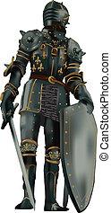 armor-vector, középkori