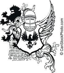 arms10, sisak, címertani, bőr