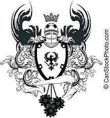 arms6, sisak, címertani, bőr