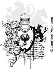 arms7, címertani, bőr, sisak