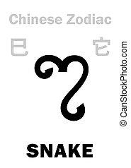 astrology:, kínai, zodiac), (sign, kígyó