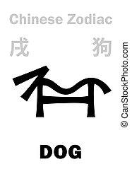 astrology:, zodiac), (sign, kínai, kutya