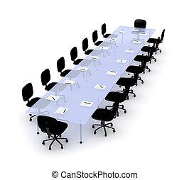 asztal, 2, tanácskozás