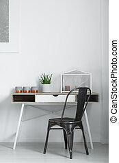 asztal, berendezés, gyertya