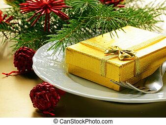 asztal letesz, karácsony, ünnepies