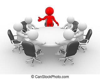 asztal, tanácskozás