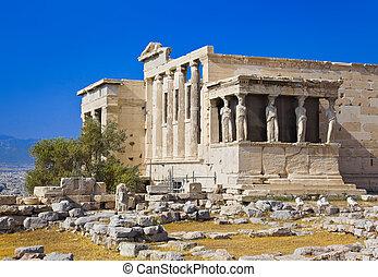 athéné, fellegvár, erechtheum, halánték, görögország