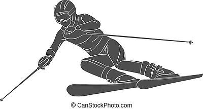 atléta, síléc slalom, tél sport