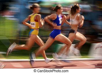 atléta, verseny