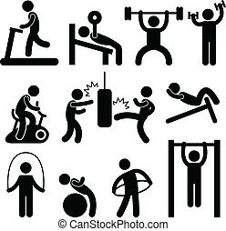 atlétikai, tornaterem, tornaterem, gyakorlás