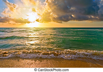 atlanti-óceán, fl, usa, napkelte