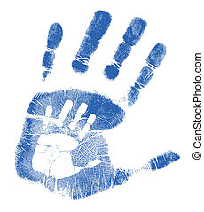 atya, fiú, handprints
