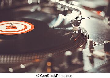 audio, zene, vinyl, profi, lemezjátszó, lemezjátszó
