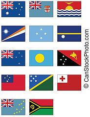 ausztrál, oceania, állhatatos, lobogó, &