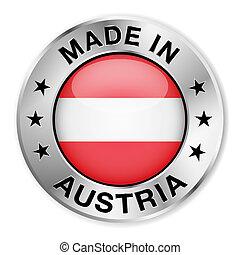 ausztria, elkészített, jelvény, ezüst