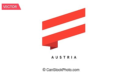 ausztria, ikon, lobogó