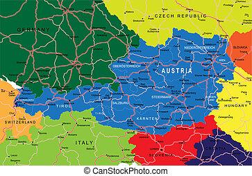 ausztria, térkép