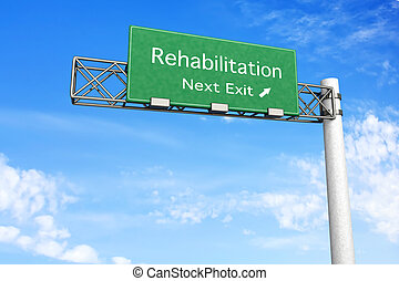 autóút cégtábla, rehabilitáció, -