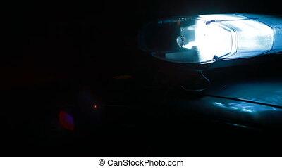 autó, éjszaka, sziréna, város, rendőrség