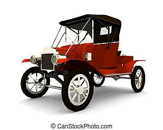 autó, öreg idő