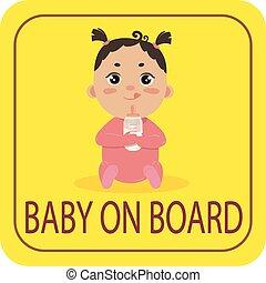 autó, böllér, biztonság, bizottság, csecsemő lány, cégtábla.