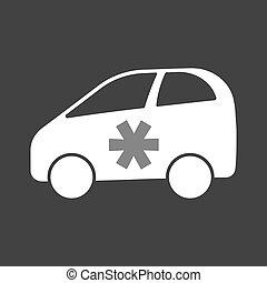 autó, csillag, elektromos, elszigetelt