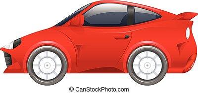 autó, fehér, versenyzés, piros háttér