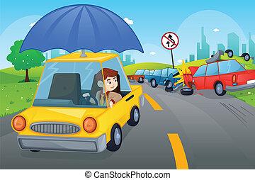 autó, fogalom, biztosítás