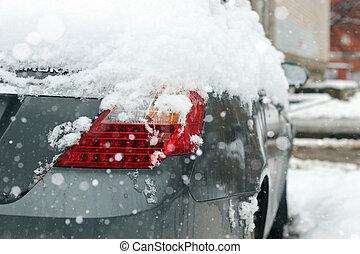 autó, hó megtesz