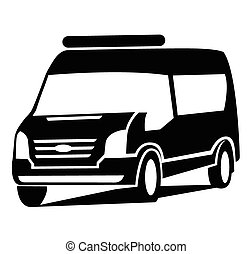 autó, jelkép, furgon