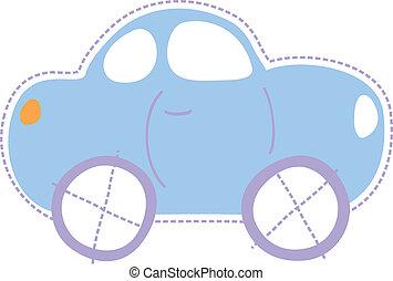 autó, kevés, gyermekkor