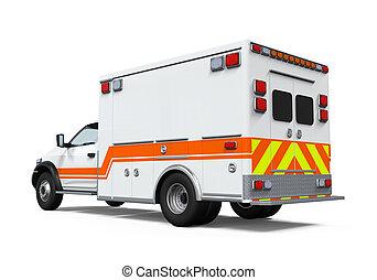 autó, mentőautó