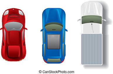 autó, tető, állhatatos, különböző, kilátás