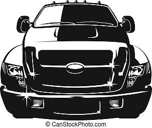 autó, vektor, karikatúra